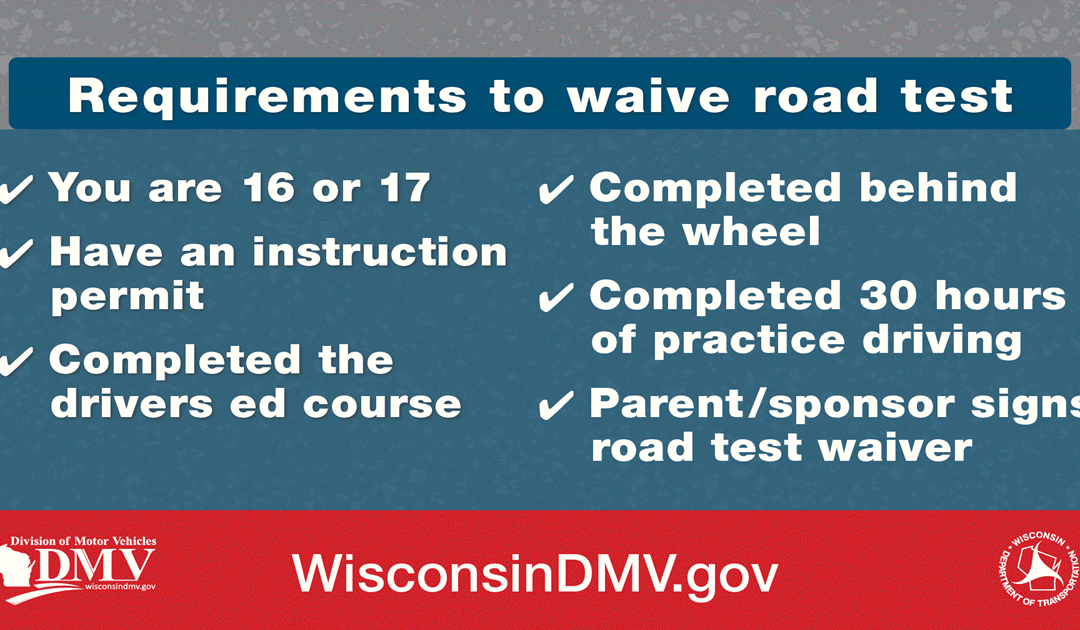 Requirements to waive road test